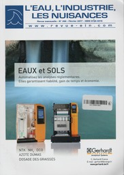 L'eau, L'industrie, Les nuisances. 399, Jeudi 9 Février 2017 |