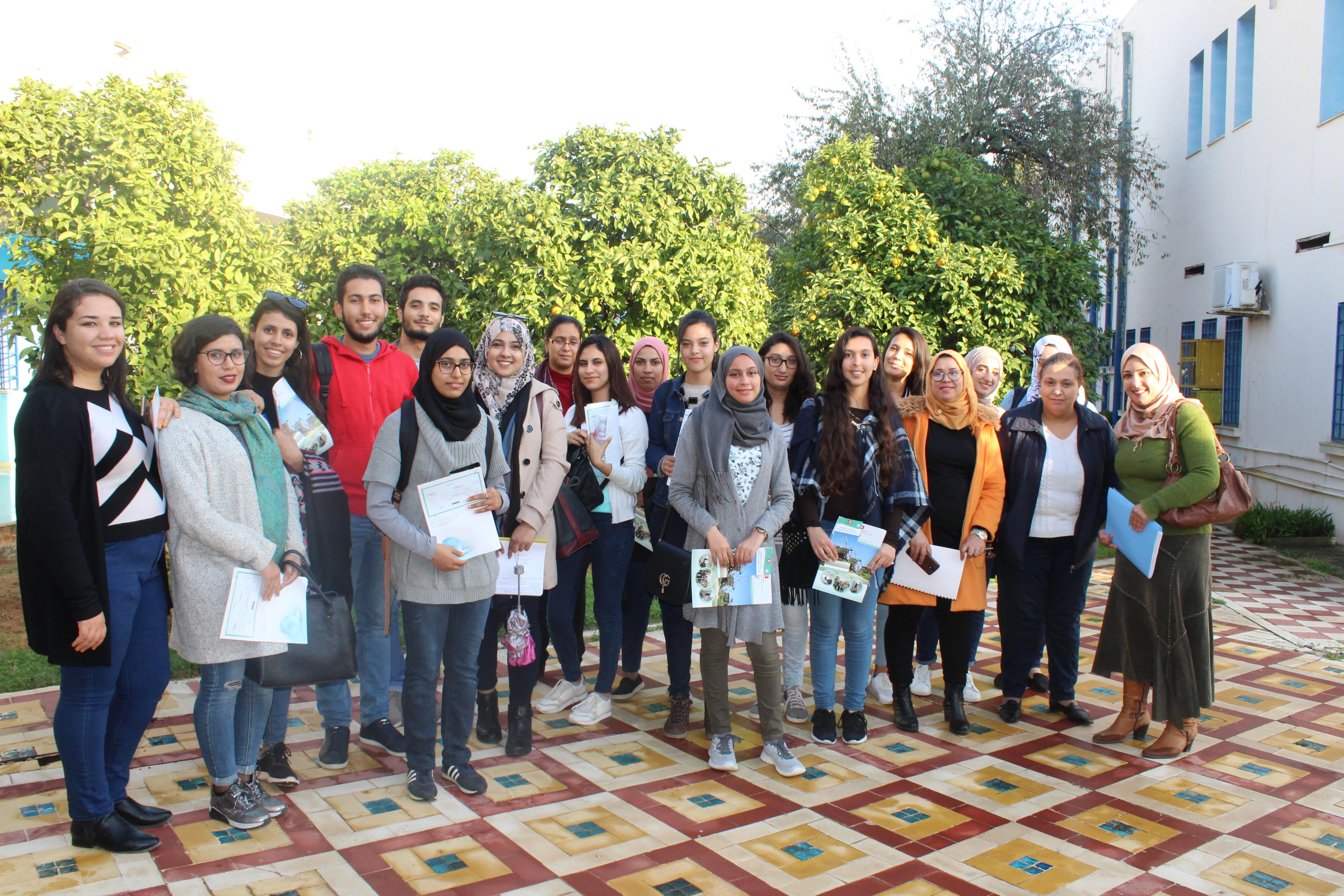 Visite d'un groupe d'étudiants de l'Institut Supérieur des Sciences Biologiques Appliqués de Tunis |