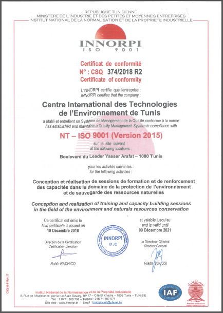 Reconduction de la Certification ISO 9001 version 2015  |