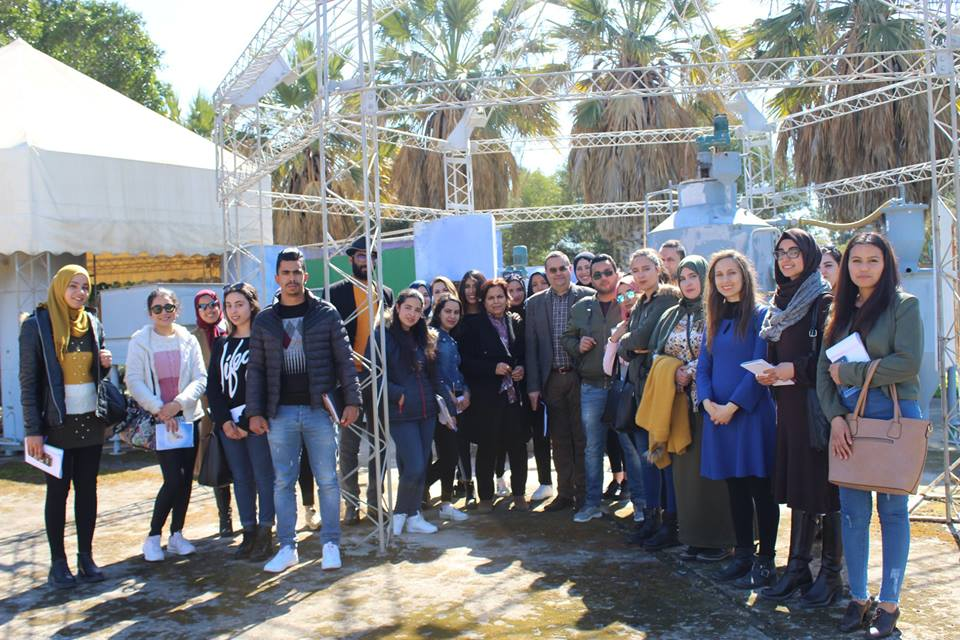 Visite d'un groupe d'étudiants de l'Institut Supérieur des Sciences Appliquées et Technologie (ISSAT) de Mahdia. |